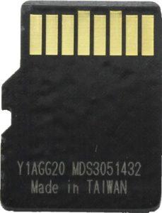 Netac UHS-1 U3 microSD card back side