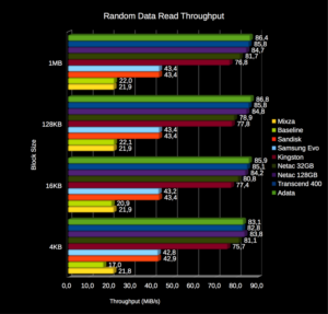 Random data read throughput